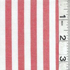 Orange/White Stripe Shirting - Fabric By The Yard