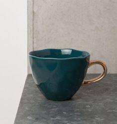 Urban Nature Culture filiżanka Good Morning ciemny turkus, porcelana 350 ml, dia11 wys 8 cm