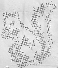 x-stitch squirrel by vintagekitchenkitsch, via Flickr