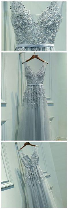 Prom Dresses A-line Appliques Floor-length Prom Dress/Evening Dress P2221
