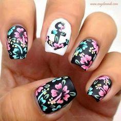 Tropical nails🌺🌴 Tropical, Nails, Fingernail Designs, Finger Nails, Ongles, Nail, Nail Manicure