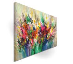 Acrylmalerei - Sommerliches Acrylgemälde moderne abstrakte Kunst - ein Designerstück von Peter-Nottrott bei DaWanda