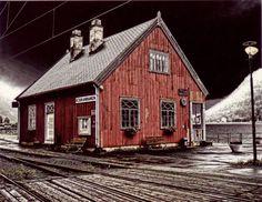 Mæl stasjon på Rjukanbanen.