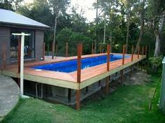 Image result for fibreglass slope pool deck