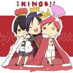 Kings ~~ Kageyama (Haikyuu!), Yato (Noragami), Akashi (Kuroko no Basket) crossover
