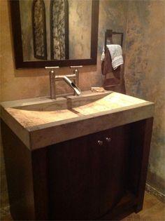 Concrete Countertops. Concrete Countertops BathroomSink ...