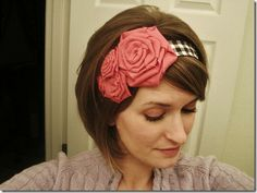 Cute headband tutorial.