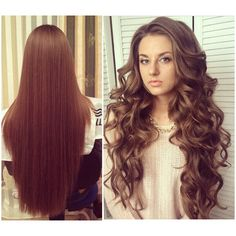 No tight, pulled-back updos for me! When I'm a bride, I want this look: all my hair down, in voluminous waves.
