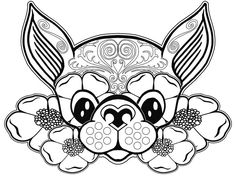 Dog Coloring Page Pages Free F