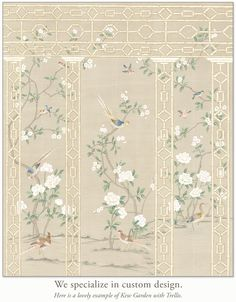 One King's Lane Advert: Hand Painted Wallpaper, Painting Wallpaper, Wall Wallpaper, Chinoiserie Wallpaper, Chinoiserie Chic, All Modern Furniture, Chinese Patterns, Japanese Art, Decoration