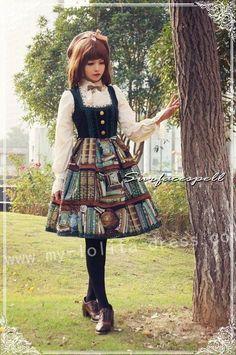 --Linda's Recommendation: Surface Spell Dusk Library Velvet Lolita Jumper Dress ...