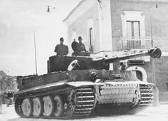 Bogey tank - Tiger 1 in Sicily, July 1943.  A significant proportion of the Axis forces managed to escape across the Straits of Messina.