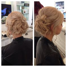 Soft, romantic updo for the Vanity Fair party by Drybar West 3rd.