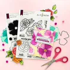 "Zinia Redo on Instagram: ""I'm so thrilled to share with you the new stamp sets I designed for @altenewllc. Simply the Best and Wavy Roses are available in the…"" Do You Miss Me, Love You, Stamp Sets, My Design, Roses, Thankful, Instagram, Products, Te Amo"