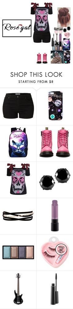 """Gettin punk"" by rider4life12 ❤ liked on Polyvore featuring LE3NO, Nikki Strange, WithChic, Dr. Martens, West Coast Jewelry, Kenneth Jay Lane, MAC Cosmetics, Clé de Peau Beauté, Medusa's Makeup and Quay"