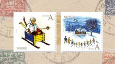 Norsk frimerke. Anne Cath. Vestly My Childhood, Fairy Tales, Stamps, Graphic Design, Cartoon, Illustration, Seals, Fairytail, Illustrations