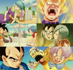 Bulma and Vegeta
