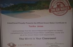 Got my certificate!!!! Want ti become a dream maker? Contact me 334-202-0537