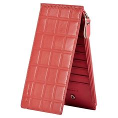 Women Real Leather Zippy Organizer Wallet Purse Portable Card Cash Storage  #teemzone