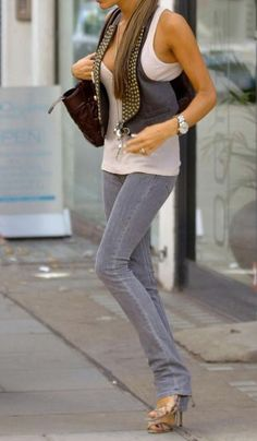 I'm huge fan of wearing your skinny jeans down over the back of your heel... elongates  the legs ladies
