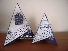 Angela's PaperArts: Pyramid Christmas in July card