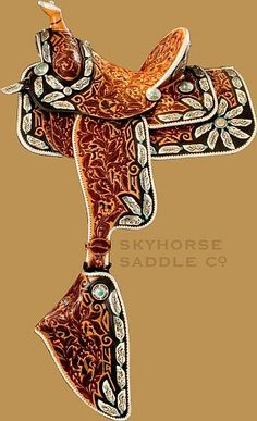 While Skyhorse Saddles are designed for use, show and parades, they're also beautiful enough to show in your home, as many of our customers do.