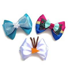 Your place to buy and sell all things handmade Film Frozen, Anna Frozen, Frozen Bows, Anna Y Elsa, Frozen Hair, Disney Frozen, Disney Hair Bows, Baby Hair Bows, Ribbon Hair Bows