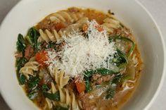 a simple real food recipe :: spinach lasagna soupa simple real food recipe :: spinach lasagna soup