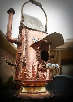 Gadget Sponge is the brainchild of Brian Carlisle of Shreveport, Louisiana. His upcycled creations are typically made from antique salvaged materials.
