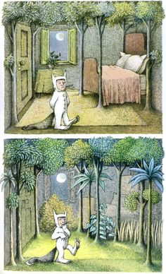 Max's room in Where The Wild Things Are by Maurice Sendak