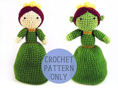 PATTERN ONLY  Princess Fiona inspired topsy turvy by gensquared