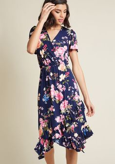 Feminine Flattery Floral Wrap Dress ca2087446d90