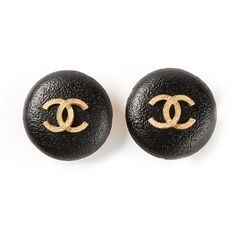 CHANEL VINTAGE CC 1993 earrings (€565) ❤ liked on Polyvore featuring jewelry, earrings, accessories, chanel, jewels, black and gold jewelry, chanel jewellery, earrings jewelry, chanel jewelry and chanel earrings