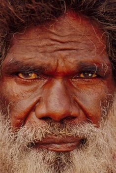 Aboriginal artist, portrait, Central Desert, Australia,