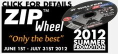 Last TWO weeks for the Summer's hottest promotion on ZIP Wheel Cut-Off Wheels! Limited time only take advantage of deals on the best cut-off wheel out there!