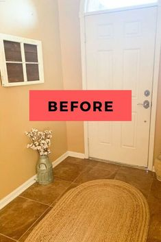 If you're on a budget but love Joanna Gaines and Farmhouse decor, you'll love this quick and cheap entry way update. Check out the before and after photos for some farmhouse inspiration. #diy #farmhouse #entryway