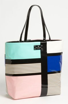 $148 kate spade new york 'daycation' coated canvas bon shopper available at #Nordstrom