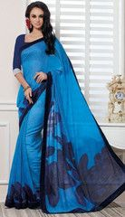 Blue Color Linen Bhagalpuri Party Wear Sarees : Nayantara Collection YF-32002