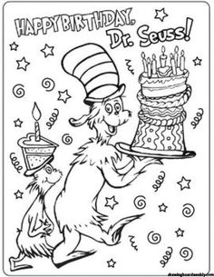 "Dr Seuss Coloring Page Free Dr Seuss Coloring Page Free - Geisel adopted the name ""Dr. Seuss "" As a graduate of Dartmouth College and a graduate student at Oxford University. It left Oxford in 1927 to start i. Dr. Seuss, Dr Seuss Week, Dartmouth College, Dr Seuss Coloring Pages, Birthday Coloring Pages, Free Coloring Pages, Coloring Book, Printable Coloring, Lewis Carroll"
