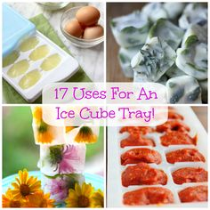17 Inventive Ways To Use Your Ice Cube Trays! ice tray recipes, ice cubes, ice cube recipe, ice cube trays, trick