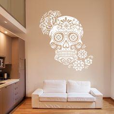 Vinilo Decorativo - Calavera Mexicana. Encuéntralo en www.pick2stick.com desde 19,60€