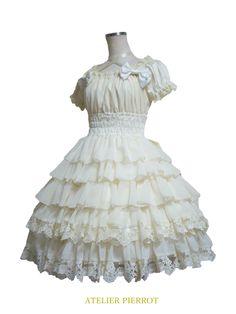 ゴシックロリータのシャーリングワンピースならATELIER PIERROTのRoyal Gardenドレスがおすすめです。こちらはRoyal Gardenドレスの通販ページです。