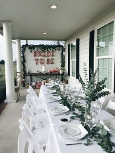 @courtneytoliver Green Bridal Showers, White Bridal Shower, Bridal Shower Party, Bridal Shower Decorations, Wedding Decorations, Backyard Bridal Showers, Wedding Ideas, Wedding At Home, Dream Wedding