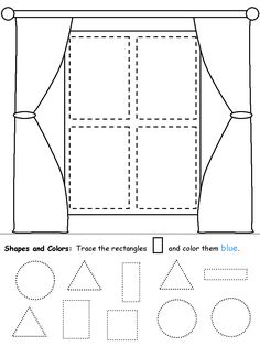 Rectangle Coloring Pages #rectangles #worksheets #