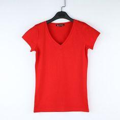 V-Neck 15 Candy Color T-shirt