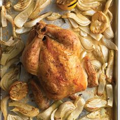 Roasting is the easiest way to cook a chicken. For maximum browning, use a rimmed baking sheet instead of a high-sided roasting pan. Create a complete meal by cooking vegetables alongside the bird.