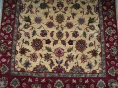 ROMANCING RED : 3x5 Hand knotted carpets Beige/Red close