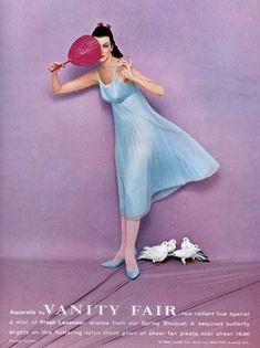 Vanity Fair 1958 - Carmen Dell'Orefice, photo by Richard Avedon Lingerie Vintage, Vintage Glamour, Vintage Ads, Vintage Style, Vintage Inspired, Richard Avedon Photos, Richard Avedon Photography, Pin Up Photography, Fashion Photography