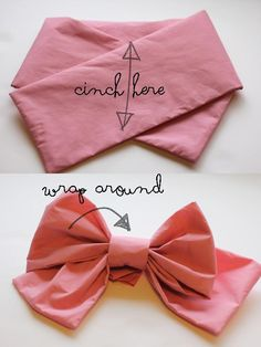 DIY BOW : DIY big huge pink bow