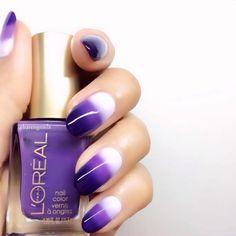 Three Tiers 💜 #nails using @lorealparisusa #nailpolish #nailart #lorealparis #karengnails